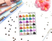 Mamas Minis - Glitter Envelopes Planner Stickers | Perfect for any planner | Travelers Notebooks
