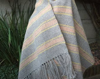 100% wool natural colors and vegetable Guddal shawl