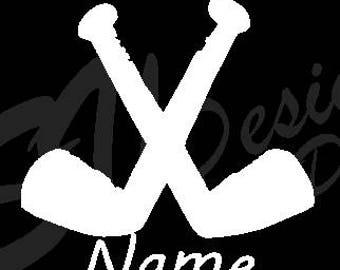 Custom hockey name decal