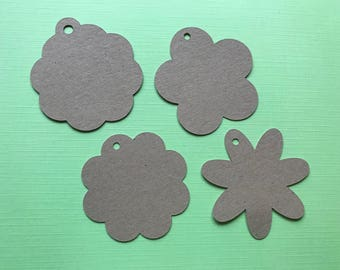 20 Flower shaped tags