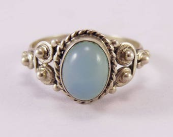 Calcidonia 925 Sterling Silver Ring Boho Jewelry Free Shipping!!!
