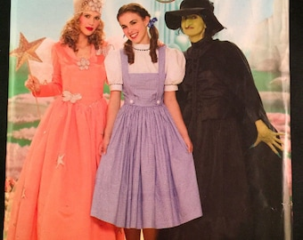 Simplicity 0854 Womens Wizard of Oz Good Wicked Witch Dorothy Costume Pattern Sz 6-12