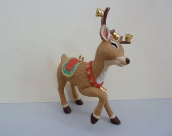 Hallmark Keepsake Ornament, Collector's Club, Ringing Reindeer, Sculpted by: Joanne Eschrich