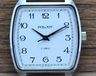 Mens RARE Vintage Soviet USSR Russian watch POLJOT 17 Jewels serviced
