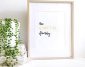 Custom family print - Real Foil Quote Print - Custom Design - Unframed Print - Real Gold Foil Print - Real Gold Foil - Print for Families