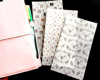 Winter Vellum Set of 3 Personal Ring Bound Dashboards