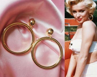 marilyn earrings vintage earrings etsy 1999