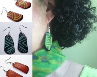Tagua Earrings, Eco friendly earrings, Dangle & Drop Earrings, Eco Earrings, Tagua Jewelry
