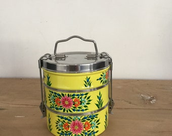 Kashmir hand painted tiffin 3 layered