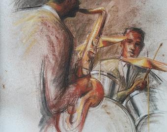 Original drawing, Jazzmen