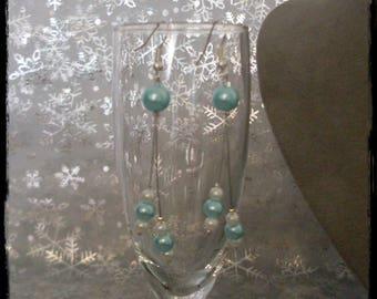 Nice pair of white turquoise earrings