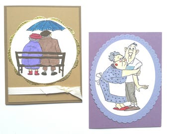 Old Couple Anniversary Cards