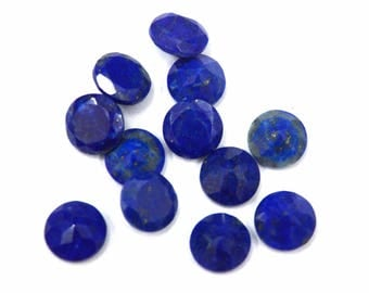 Lapis Lazuli round cut 25 pcs. lot AAA quality Natural Blue Lapis Lazuli round cut faceted loose gemstone for jewelry