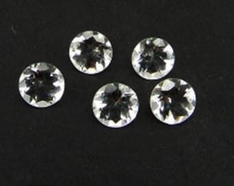 Lot Of 25 Piece Natural white Topaz round cut faceted Calibrated loose gemstone with free shipping