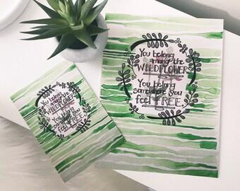 Wildflowers & Freespirits (8x10 Print)