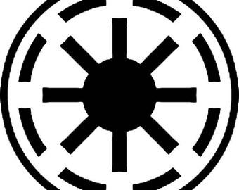 Star Wars Galactic Republic Sticker Vinyl Decal Star Wars - Car Window Wall Decor