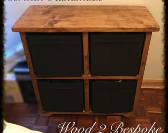 cube storage unit hand made rustic