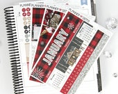 Let It Snow January Monthly View Planner Kit | ~200 Stickers | Planner Stickers | For Erin Condren LifePlanner