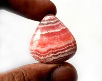 Natural Rhodochrosite 36.5 Cts Gemstone Loose Cabochon Pink Rhodochrosite Pear Shape 26x24x6 MM R13425