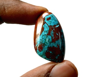 Chrysocolla 20 Cts AAA Quality Natural Gemstone Attractive Designer Free Form Shape Cabochon 29x17x5.6 MM R14389