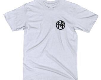 Japanese Samurai Warrior Logo Kanji Ninja Light Grey T Shirt
