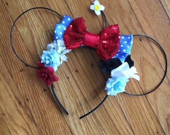 Classic Minnie Mouse Inspired Ears | Classic Minnie Ears | Minnie Mouse Ears | Wire Ears | Mouse Ears