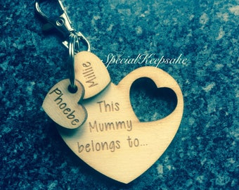 Personalised This Mummy Belongs To Child Daughter Son Daddy Nanny Grandad Auntie Uncle Sister Brother Family Heart Keyring Xbox Fathers Day