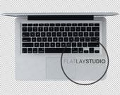 APPLE MACBOOK / Transparent Flat Lay Object