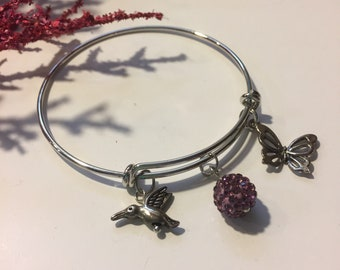 Butterfly and Hummingbird Bracelet