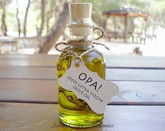 50 pcs Favorite Olive Oil Favors (70ml / 2.4oz), Olive Oil Wedding Favors, Olive Oil Baby Shower Favors, Olive Oil Bridal Shower Favors,