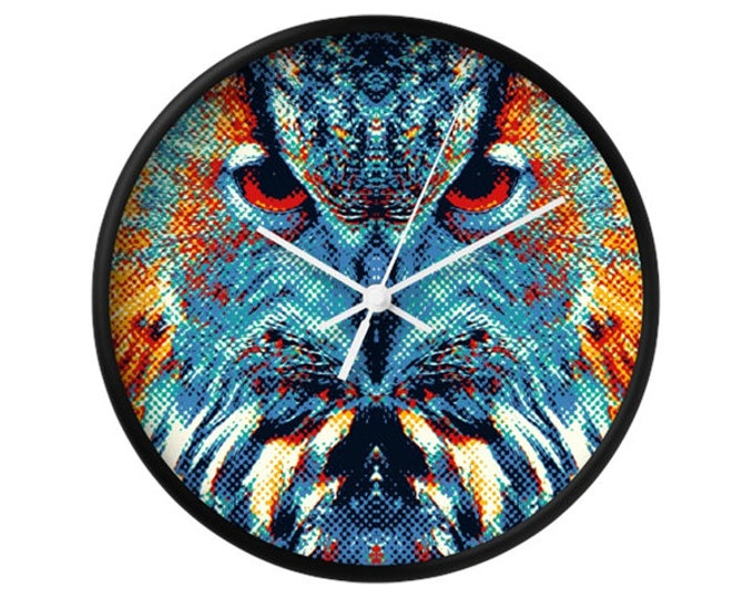 Owl Wall Clock - Colorful Animals