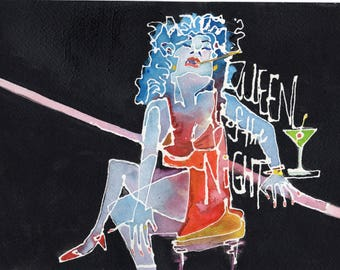 Queen of the Night (PaintBabies) Prints