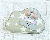 Cute clouds with felt balls. Cloud Drcorations. Nursery decorations. Flower crown cloud hangers. Rainbow cloyd decoration.