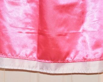 Hot pink and White double layered silky satin skirt for men,  slip / petticoat, Sissy Lingerie