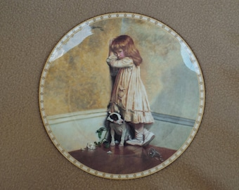 Vintage Collectible Plate; A Victorian Childhood; In Disgrace