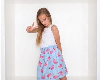 Flamingo skirt - girls skirt - skirt - flamingo clothing