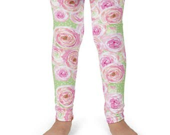 Leggings for girls - cute leggings, girls printed legging, Legging and shirt set, pink leggings, hand sewn, floral legging, girls legging