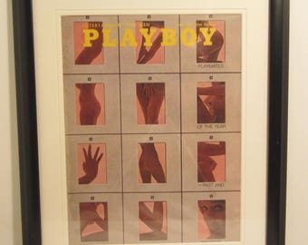 Vintage Playboy Magazine Cover Matted Framed : June 1971 - Sharon Clark