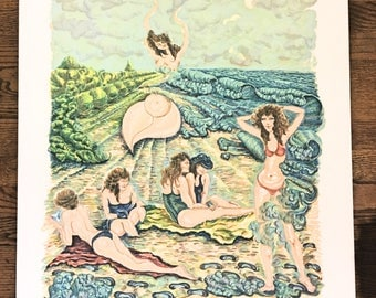 """Rochelle Steiner Lithograph """"Painting with Sand"""""""