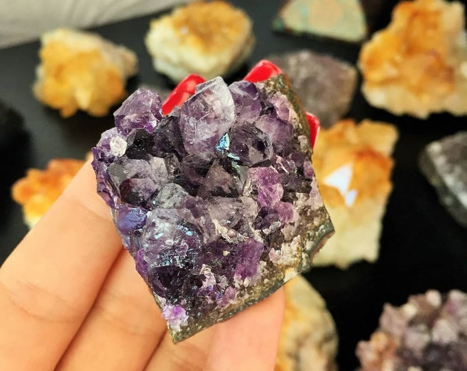 Small Amethyst Crystal Cluster Quartz / Healing Crystals and Stones