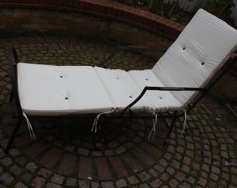 victorian cast iron chaise chair