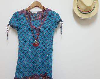 FREE SHIPPING,BOHO Dresse, Made in China, Hippie dress, Cotton dress, Summer dress