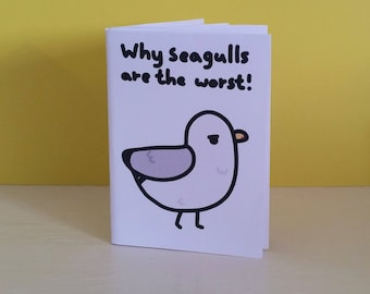 Why seagulls are the worst: A little digital download zine