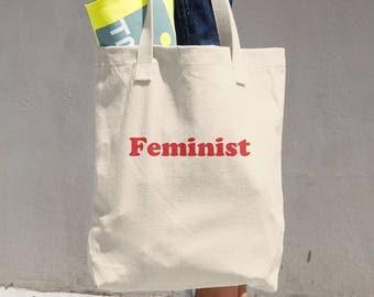 Feminist Cotton Tote Bag