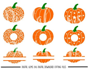 Swirly pumpkin, Halloween svg / dxf / eps / png files. Digital Download. Small commercial use ok.