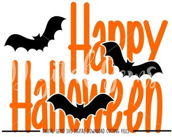 Happy Halloween svg / dxf / eps / png files. Digital download. Compatible with Cricut and Silhouette machines.