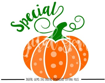 Halloween Special Pumpkin Fall / Autumn svg / dxf / eps / png files. Digital download. Compatible with Cricut and Silhouette machines.