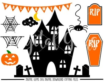 Halloween Fall / Autumn svg / dxf / eps / png files. Digital download. Compatible with Cricut and Silhouette machines.