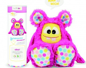 Fuchsia ruffled Monster Kullaloo plushie Kit