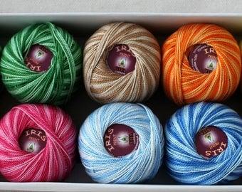 IRIS PRINT Vita Cotton 100% Egyptian cotton double mercerization yarn for crochet and knitting 20g - 125m